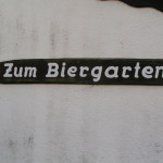 Schild Biergarten