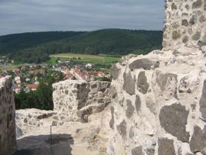 Burgmauern über den Markt Waldeck