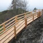 Burg Waldeck – neuer Holzwehrgang fertiggestellt