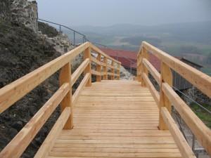 Erste Stufe zum Bergfried