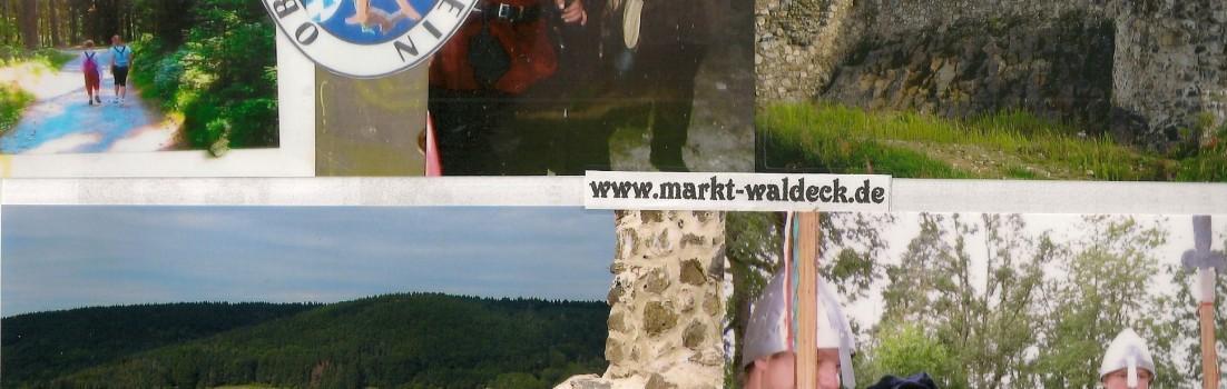 Burg Waldeck Beginn Zubringer zum Goldsteig