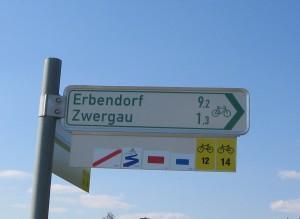 Wanderwege nach Zwergau