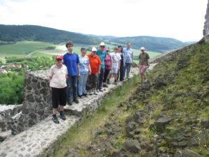 Aufstieg Burg Waldeck